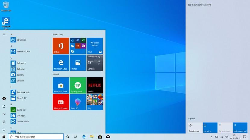 Windows 10 Pro Masaüstü Görüntüsü