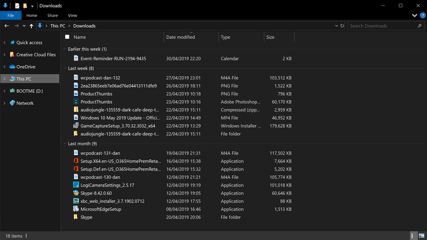 Windows 10 Pro Dosya Gezgini